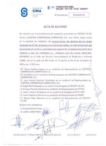 ACTA DE ACUERDO