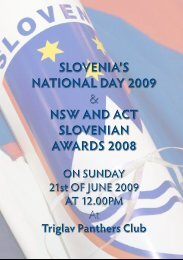 slovenia's national day 2009 & nsw and act ... - Glas Slovenije