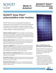 "SCHOTT POLYâ""¢ Photovoltaic Modules 235 ... - CFM Equipment"