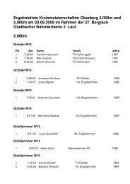 Ergebnisliste Kreismeisterschaften Oberberg 2.000 ... - LVN Oberberg
