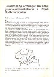 Resultater og erfaringer fra berggrunnsundersøkelsene i ... - NAGS
