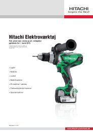 Hitachi Elektroværktøj - Hitachi Power Tools Finland Oy
