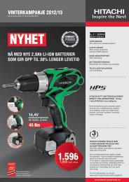 ViNTErkampaNjE 2012/13 - Hitachi Power Tools Finland Oy
