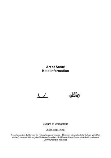 Art et Santé Kit d'information - Culture & Démocratie