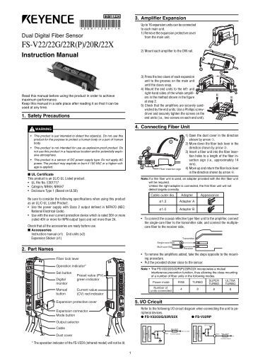 Keyence Fs2 65 manual