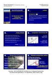 Coarse Grain Reconfigurable Architectures - Hartenstein