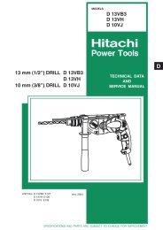 Hitachi 318928 Shaft B C10Fcb Replacement Part