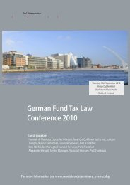 German Fund Tax Law Conference 2010 - WM Datenservice