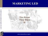 Marketing LED: Iowa's Experience
