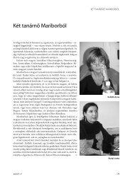 Két tanárnő Mariborból Kolláth Anna: A magyar nyelv ... - Európai Utas