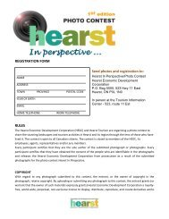 Registration Form and Contest Rules - Ville de Hearst