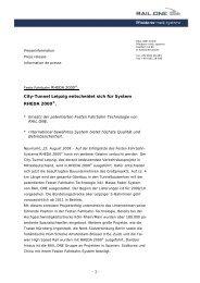 City-Tunnel Leipzig entscheidet sich für System ... - RAIL.ONE GmbH