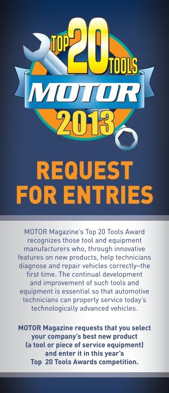 REQUEST FOR ENTRIES - MOTOR Information Systems