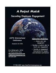 Decoding Employee Engagement - ASTD 2007