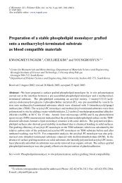 Preparation of a stable phospholipid monolayer grafted onto a ...