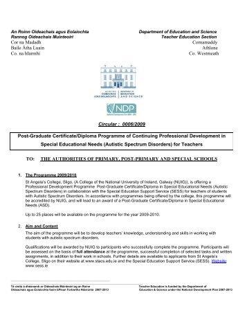 Post-Graduate Certificate/Diploma Programme of ... - Circulars