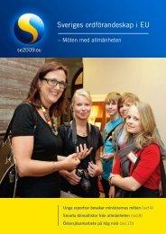 Sveriges ordförandeskap i EU - Möten med ... - Global Reporting