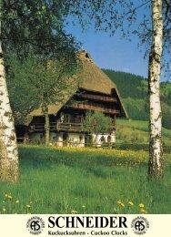 SCHNEIDER Schwarzwälder Kuckucksuhren - Cuckoo Horst