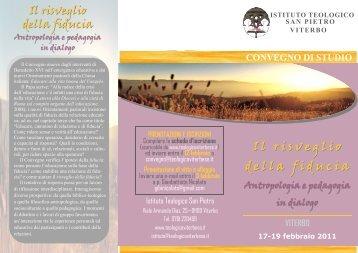 CONVEGNO di STUDIO. - Istituto Teologico San Pietro