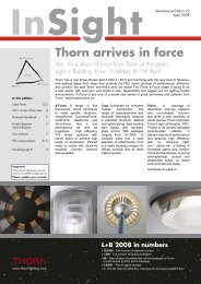 Yes - it's a show of force from Thorn at this year's - THORN Lighting