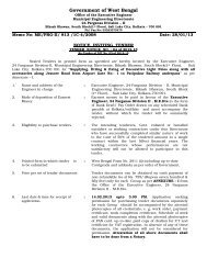 Government of West Bengal - Department of Municipal Affairs