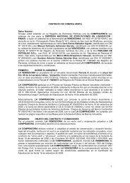 CONTRATO DE COMPRA VENTA Señor Notario: Sírvase usted ...