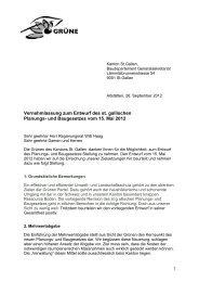 Vernehmlassungsantwort der Grünen (pdf) - Grüne Kanton St. Gallen