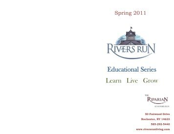 Rivers Run Spring 2011 Events Book.indd
