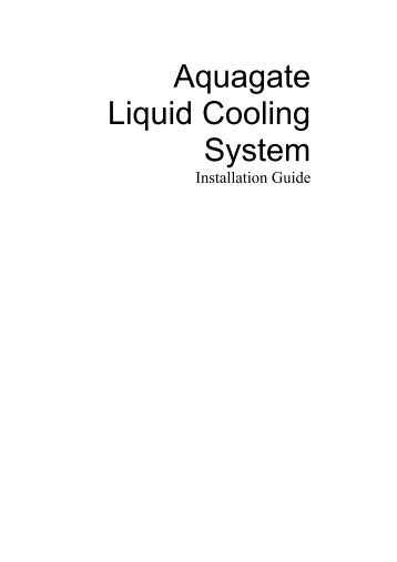 About the Aquagate Liquid Cooling System - Cooler Master
