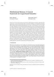 Distributional Memory: A General Framework for Corpus ... - clic-cimec