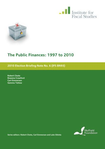 IFS Green Budget - The Institute For Fiscal Studies