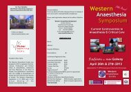 WAS programme 2013.pub - The College of Anaesthetists of Ireland