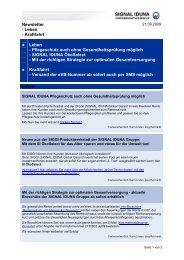 Newsletter - Leben - Kraftfahrt Leben - Pflegeschutz ... - Vdk-online.de