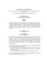 Legge Regionale 22 luglio 2009, n. 22 Norme in materia di ...