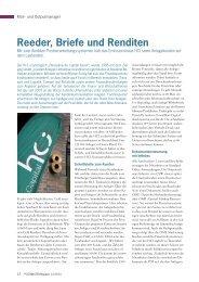 Reeder, Briefe und Renditen - Müller Apparatebau GmbH