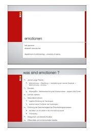 emotionen was sind emotionen ? - ZIT