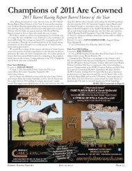 Champions of 2011 Are Crowned - Barrel Racing Report