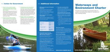 Read the Waterways and Environment Charter - Canoe England