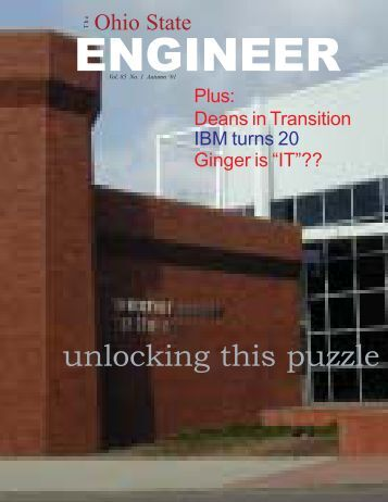 unlocking this puzzle - Ohio State Engineer - The Ohio State University