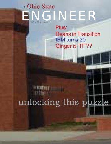 unlocking this puzzle - Ohio State Engineer - The Ohio State University