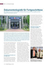 Dokumentenlogistik für Fortgeschrittene - Müller Apparatebau GmbH