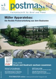 POSTMASTER-online - Müller Apparatebau GmbH