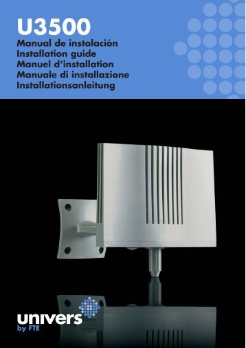 Manual PDF - Univers by FTE