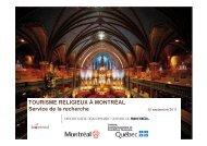 Le tourisme religieux à Montréal