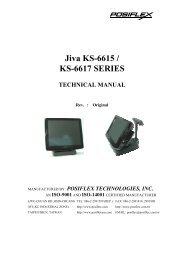 Jiva KS-6615 / KS-6617 SERIES - Touch Screens Inc.
