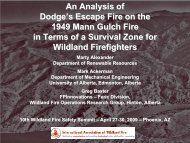 An Analysis of Dodge's Escape Fire on the 1949 Mann Gulch Fire in ...