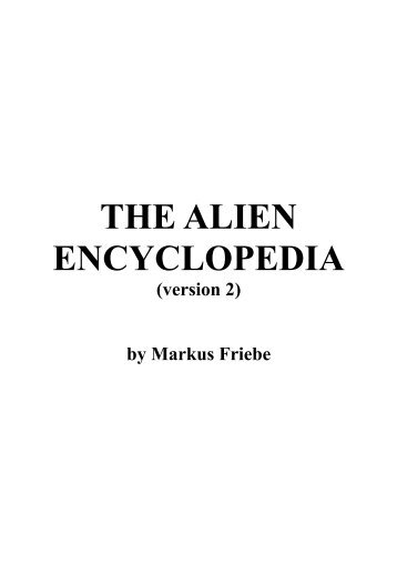 THE ALIEN ENCYCLOPEDIA - Get a Free Blog