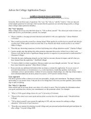 Advice for College Application Essays - Waunakee Community ...