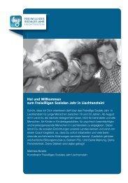 Flyer - Freiwilliges Soziales Jahr Liechtenstein
