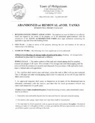 Oil Tank Abandoned or Removal Pkg. - Town of Philipstown